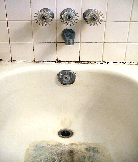 Pink or Dark Stains in the Toilet or on Fixtures